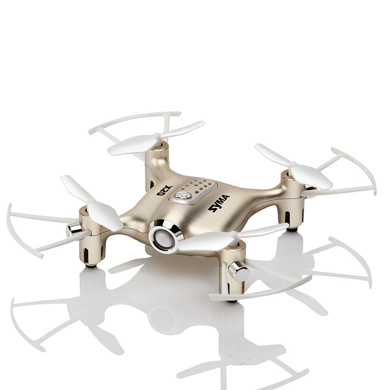 Image 5 - Syma X20 Mini Drone Golden 2.4G 4CH 6 aixs Remote Control Helicopter Quadcopter  Gyro Pocket RC Dron 3D flip Children Toys Gift-in RC Helicopters from Toys & Hobbies