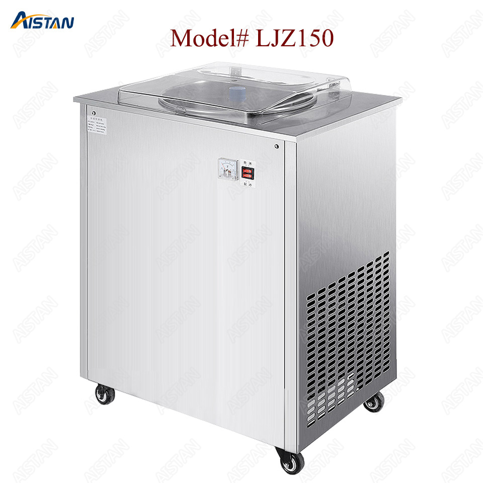LJZ150 commercial stainless steel fried ice cream machine yogurt fruit ice pan machine 1
