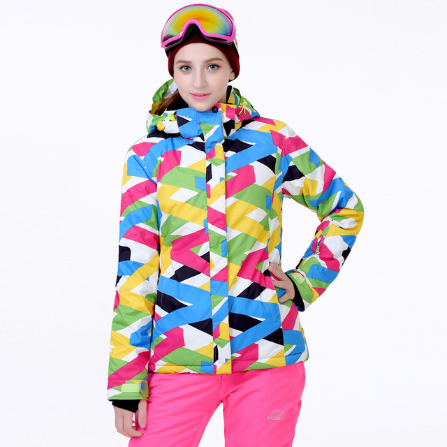 Cheap Ski Suit sets Women Snowboarding Clothing Waterproof Windproof  Thicken Winter Outdoor Costume Snow Suit Jacket fde68a0fe