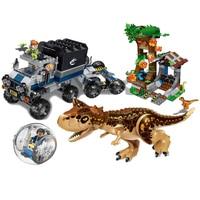 New 39117 Brick Figures Jurassic World 2 Park Carnivorous Carnotaurus Roundabout Escapes Building Blocks toys for children