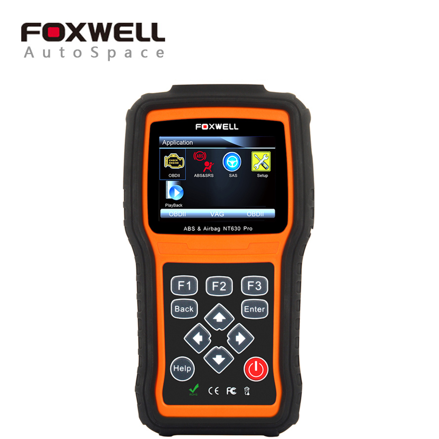 Foxwell NT630 Pro OBD Engine Scanner + ABS + SRS Airbag Crash Data Reset Tool + SAS Steering Wheel Angle, Automotive OBD2 Scaner цены онлайн