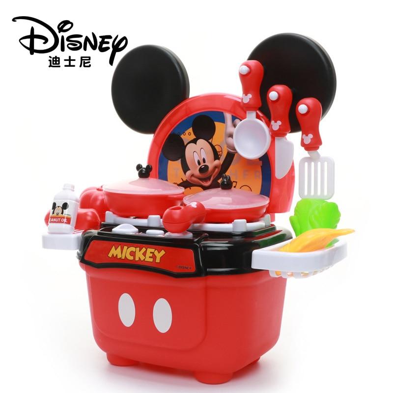 Us 18 4 47 Off Disney Pretend Play Mickey Minnie Kitchen Toys Children Boys And Girls Simulation Food Lighting Toys For Children In Kitchen Toys
