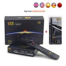 Freesat V8 Súper Completo 1080 P HD FTA Receptor de Satélite DVB-S2 soporte Biss Clave newcam decodificador de satélite + USB WIFI 3G IPTV Youporn