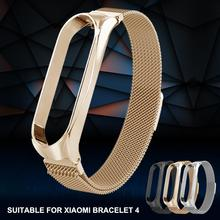 For Xiaomi Mi Band 4 Stainless Steel Bracelet Strap Metal Buckle Replacement Wristband