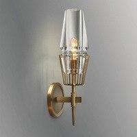 Cobre Qualidade do Scone Da Parede Luz Moderno Quarto Cabeceira lâmpada de Parede LEVOU Montagem Da Parede Escadas iluminação luminárias para casa 100 -240 V