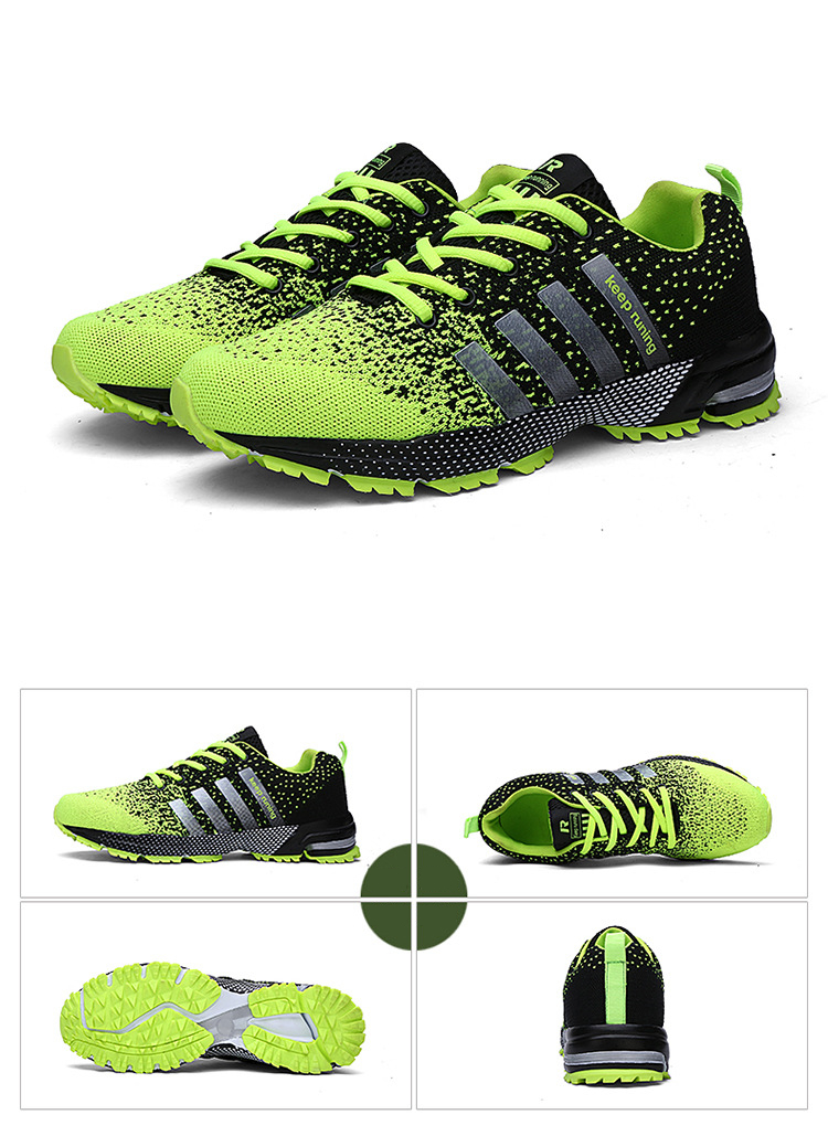 Hot sale 2018 New Trend Running Shoes Men Sneakers Breathable Mesh Shoes Eva Women Sport Runing Shoes plus large size 35--47 2