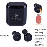 EDAL X3T Wireless Bluetooth Earphone Headset Wtih Charger Box Bass Stereo Touch Control Earbud For IPhone