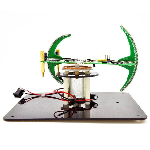 DIY Biaxial Spherical Rotating LED Kit POV Soldering Training Kit ModuleDIY Biaxial Spherical Rotating LED Kit POV Soldering Training Kit Module