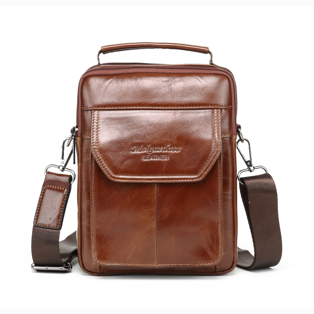 MEIGARDASS Genuine Leather Messenger Bag Men Handbags Shoulder Bag Business Casual Crossbody bags for man iPad Tablet Bags male meigardass new style male genuine leather handbag man bag crossbody shoulder bag small casual messenger bags for men cowhide