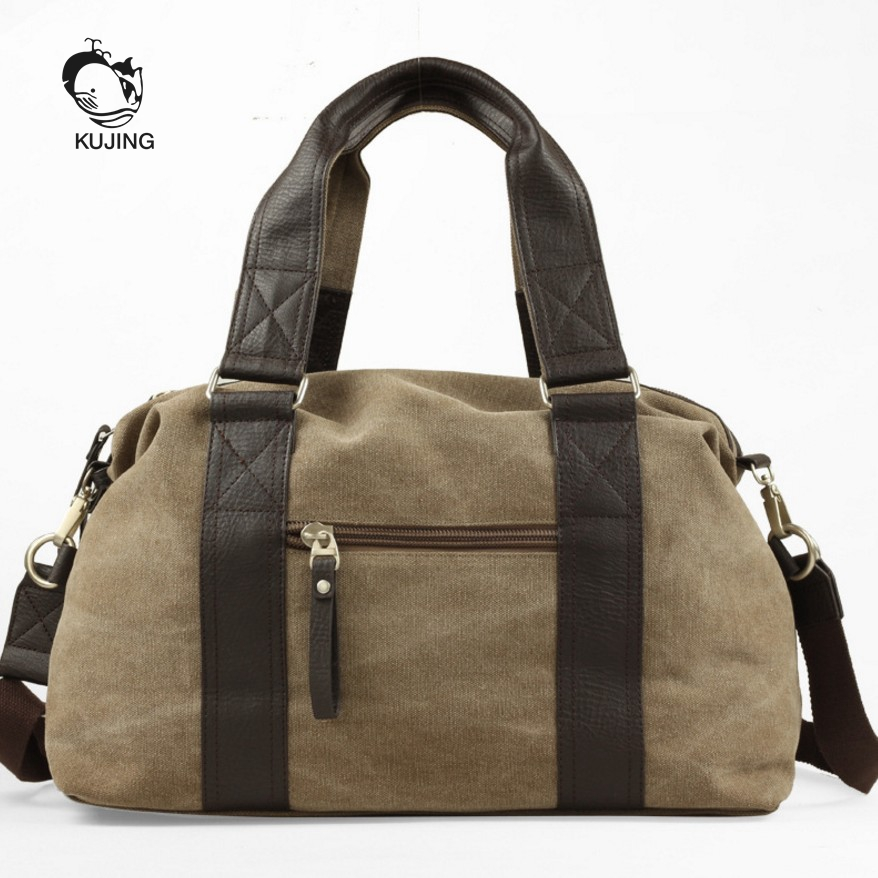 KUJING Fashion Handbag High Quality Canvas Men Handbag Hot Travel Men Shoulder Messenger Bag Free Shipping Cheap Casual Men Bag high quality authentic famous polo golf double clothing bag men travel golf shoes bag custom handbag large capacity45 26 34 cm