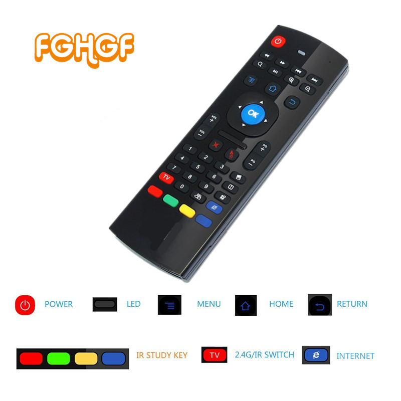 Newest Fly Air Mouse & Wireless Mini Keyboard with IE & Remote Control T3 for Android TV Box Media Player Better Than MX3 X8