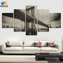 Unframed definition print black and white viaduct canvas painting picture office living room home decoration art wall gift FA178