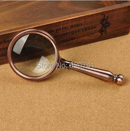 8x Retro-styled Hand hold Magnifying Glass for old people Reading with Gift Box