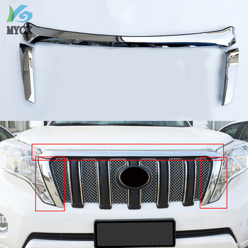 Cover Case Sticker For Toyota PRADO FJ150 FJ 150 2014-2017 Car Styling 3PCS Head Racing Grills Decoration Cover Case Stickers