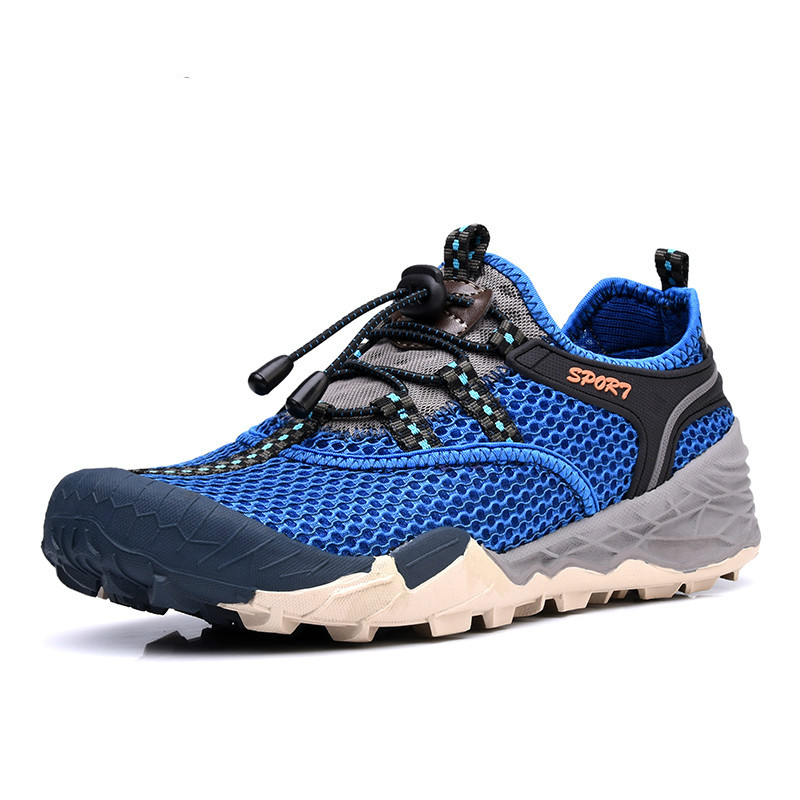 BACKCAMEL Summer Casual Men's Shoes Breathable Mesh Air Ultra-light - Men's Shoes - Photo 5