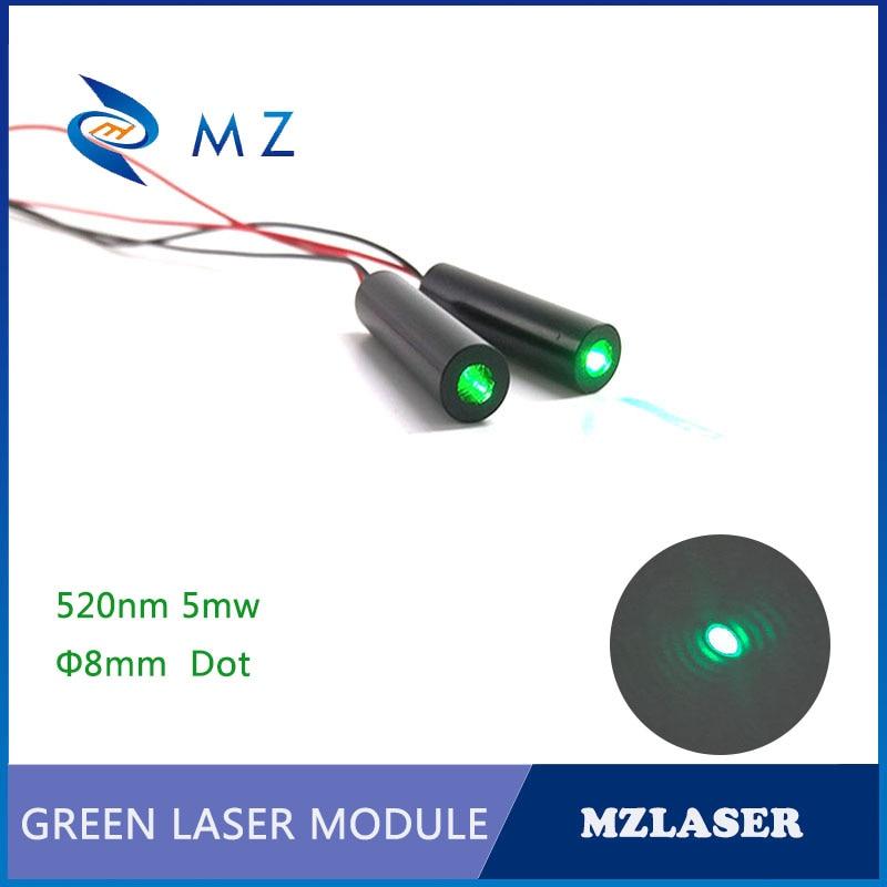 Dot Green Laser Module 520nm 5mw  Laser Module Industrial Grade Green APC Drive Circuit Laser Module