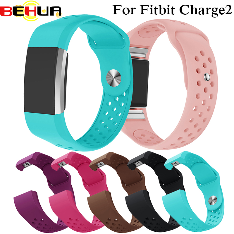 Colorful Straps Bracelet Soft Silicone Wrist Strap For Fitbit Charge 2 Band Charge2 Heart Rate Smart Watch Belt
