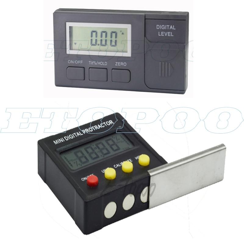 360 Degree Mini Digital Protractor Inclinometer Electronic Level Box Magnetic Base Box Level Magnetic Level