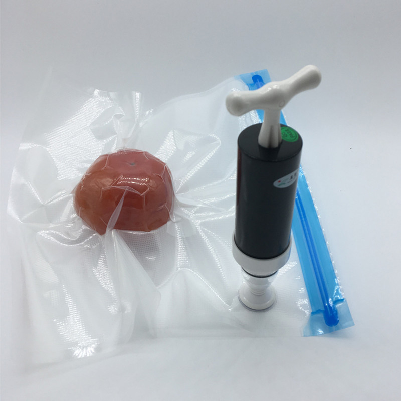 Kitchen Manual Vacuum Sealer Hand Pump And The Writable Sealer Bags Vacuum Food Packaging Bag Storage Compression Bags