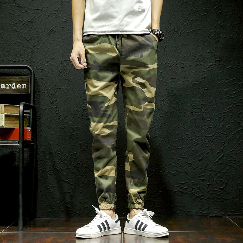 Mens Pants Trousers Streetwear Hip-Hop Camouflage Casual Fashion Autumn