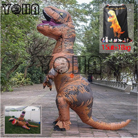 Halloween Party Adult T REX Costume Jurassic World Park Blowup Dinosaur Cosplay Animal Inflatable Costume Party Costume Pig,