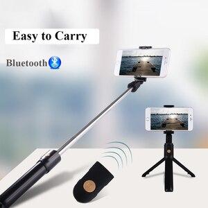 Image 5 - 3 In 1 Draadloze Bluetooth Telefoon Hold Mini Selfie Statief Met Afstandsbediening Voor Iphone X 8 7 6 S plus Draagbare Monopod