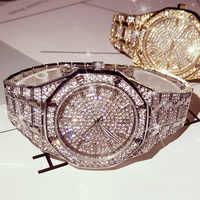KIMSDUM Männer Uhren 2019 Luxus Marke Design Quarz Diamant Uhr für Männer Iced Out Uhr AAA Wasserdichte Leder Armbanduhr