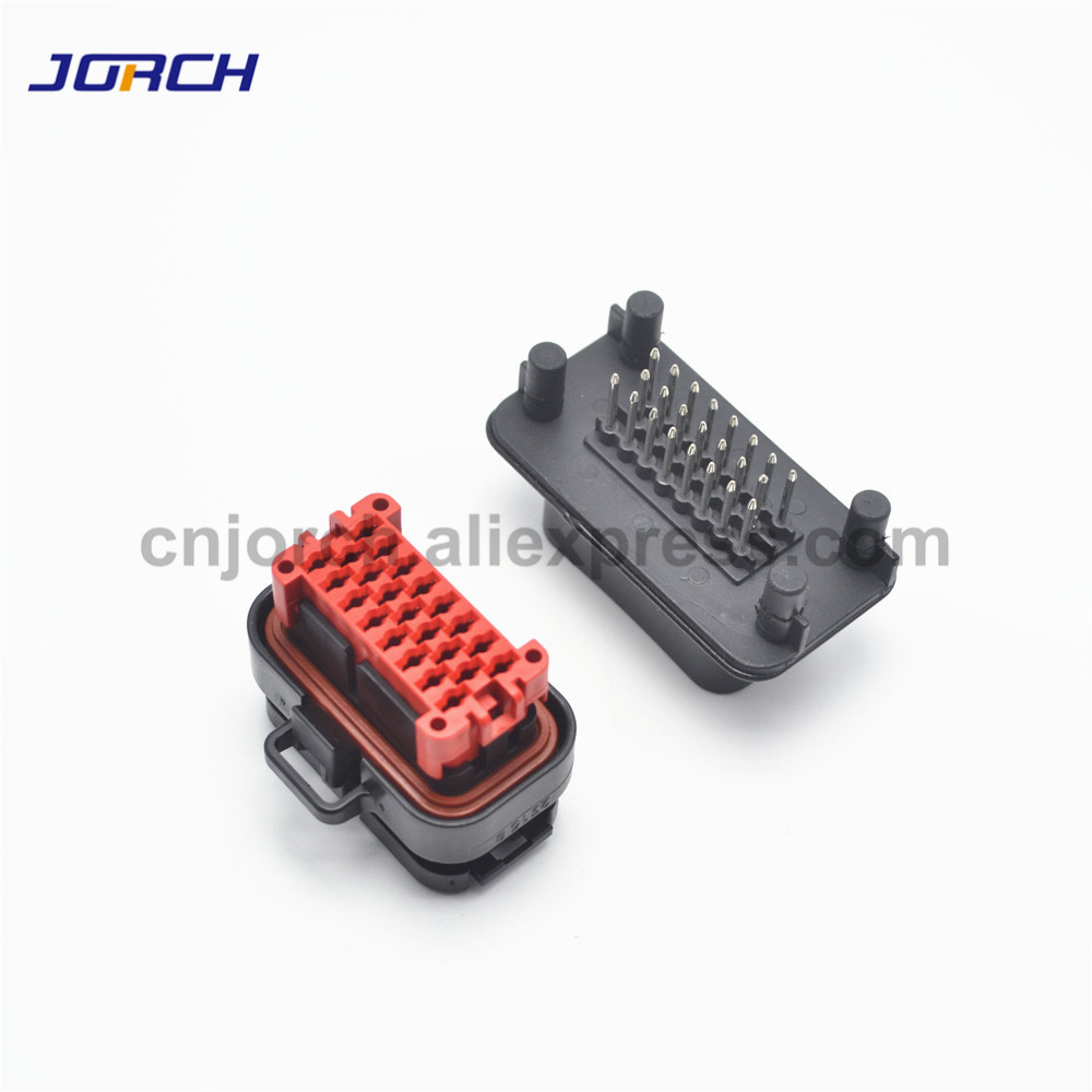 1 Set 23pin Male Female Waterproof Tyco AMP Automotive ECU Connector Plug 776228-1 770680-1 With Pins