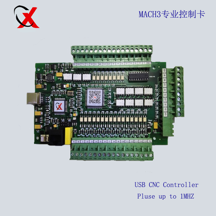 4Axis USB CNC Mach3 Controller 1000KHZ Card Interface Breakout Board E CUT board upgrade freeshipping 0 to 10 vpwm spindle speed controller mach3 interface board