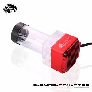 Image 3 - Комбинированный насос Bykski DDC + резервуар, максимальный подъемник потока, 6 метров, 154 л/ч, совместимый с крышкой DDC, радиатор, емкость для воды, длина мм