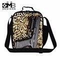 Dispalang Cool Handgun Insulated Cooler Bags for Children Teen Boys Zipper Lunch Bag for School Men Stylish Work Lunch Container