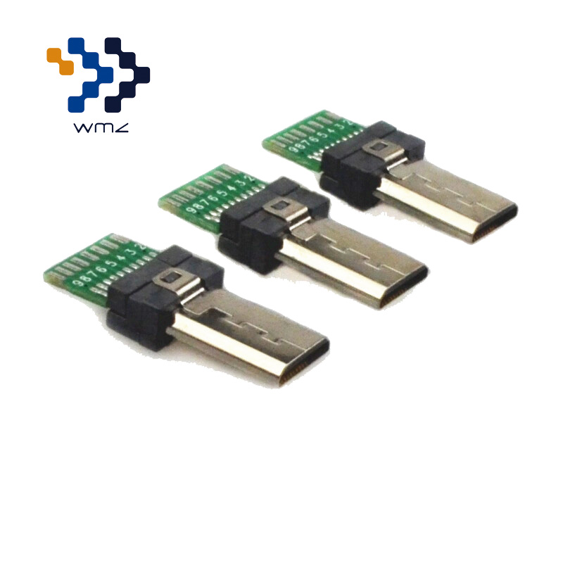 5 Pack WMZ Micro <font><b>USB</b></font> Connector With PCB Sony <font><b>15</b></font> <font><b>Pin</b></font> <font><b>USB</b></font> Plug Connectors <font><b>15</b></font> <font><b>Pin</b></font> Adapter For Sony Camera Flat Micro Mini Adapters image