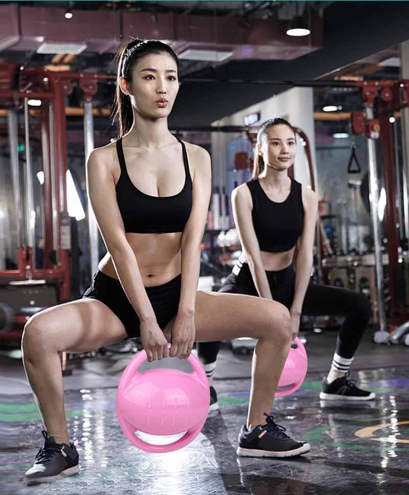 PVC matériel eau Kettlebell femmes Fitness bouilloire Portable exercice facile transporter Crossfit équipement réglable haltère
