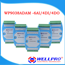 6AI/4DI/4DO 0-20MA/4-20MA input/Digitale input en output module/RS485 MODBUS RTU communicatie WP9038ADAM Wellpro