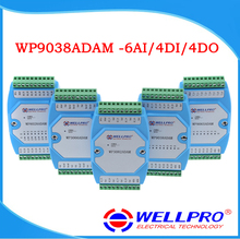 6AI/4DI/4DO 0 20MA/4 20MA 入力/デジタル入力と出力モジュール/RS485 MODBUS RTU 通信 WP9038ADAM Wellpro