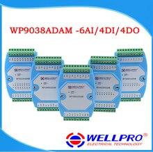 6AI/4DI/4DO 0 20MA/4 20MA อินพุต/อินพุตและเอาท์พุทโมดูล/RS485 MODBUS RTU การสื่อสาร WP9038ADAM Wellpro