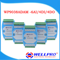 6AI / 4DI / 4DO 0-20MA / 4-20MA  input  / Digital input and output module / RS485 MODBUS RTU communication WP9038ADAM  Wellpro
