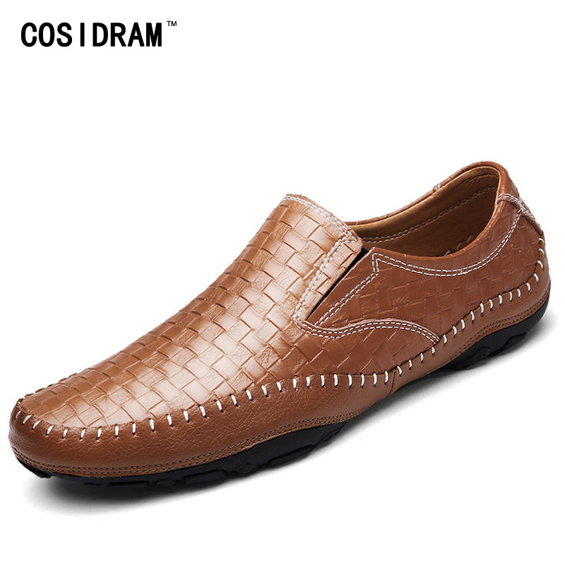 Brand Designer Casual Driving Shoes Summer Men Loafers Slip On Genuine Leather Moccasins Men Flats Soft Bottom Gommino RMC-1024 handmade genuine leather men s flats casual haap sun brand men loafers comfortable soft driving shoes slip on leather moccasins