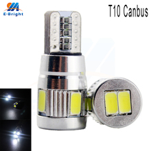 20pcs 12V T10 Canbus Error Free 5730 6 SMD LED Bulbs Flood Cars License Plate Instrument Reading Lights Indicator Shipping