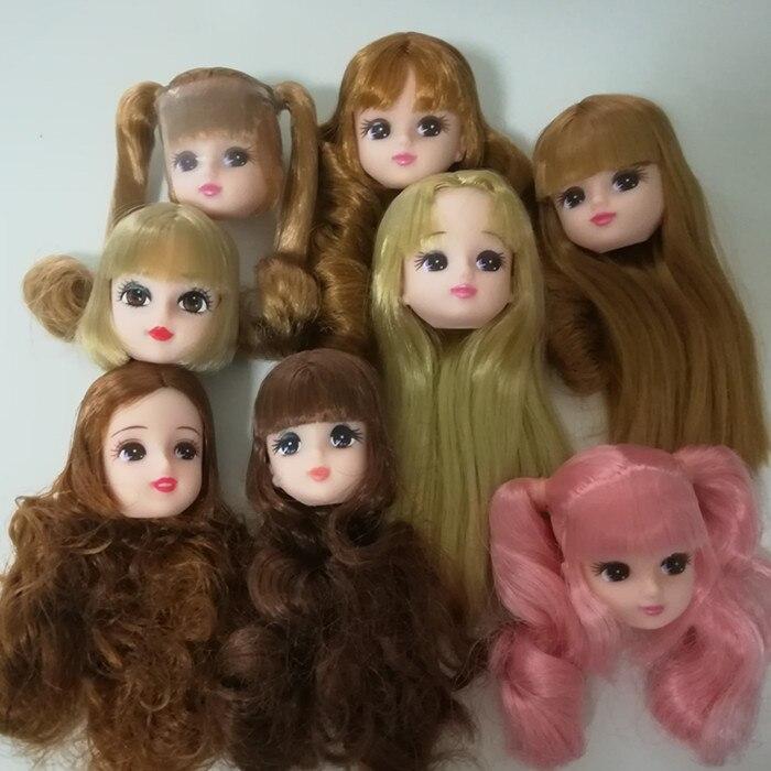 2017 специальное предложение Новые брендовые оригинальные головки для Licca кукла подарок для девочек детские игрушки куклы аксессуары ...