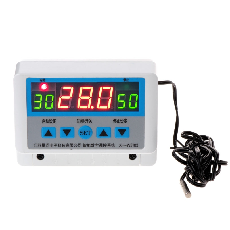XH-W3103 AC 220V Max 6600W Digital Thermostat 30A Temperature Controller Switch micro intelligent thermostatic switch digital thermostat ac220v temperature controller for heater or cooler max power2200w w2101