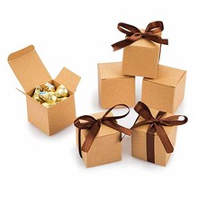 10Pcs Candy Boxes Kraft Paper Gifts bag for Guests Rustic wedding bridal baby shower birthday favors Package Chocolate Holder