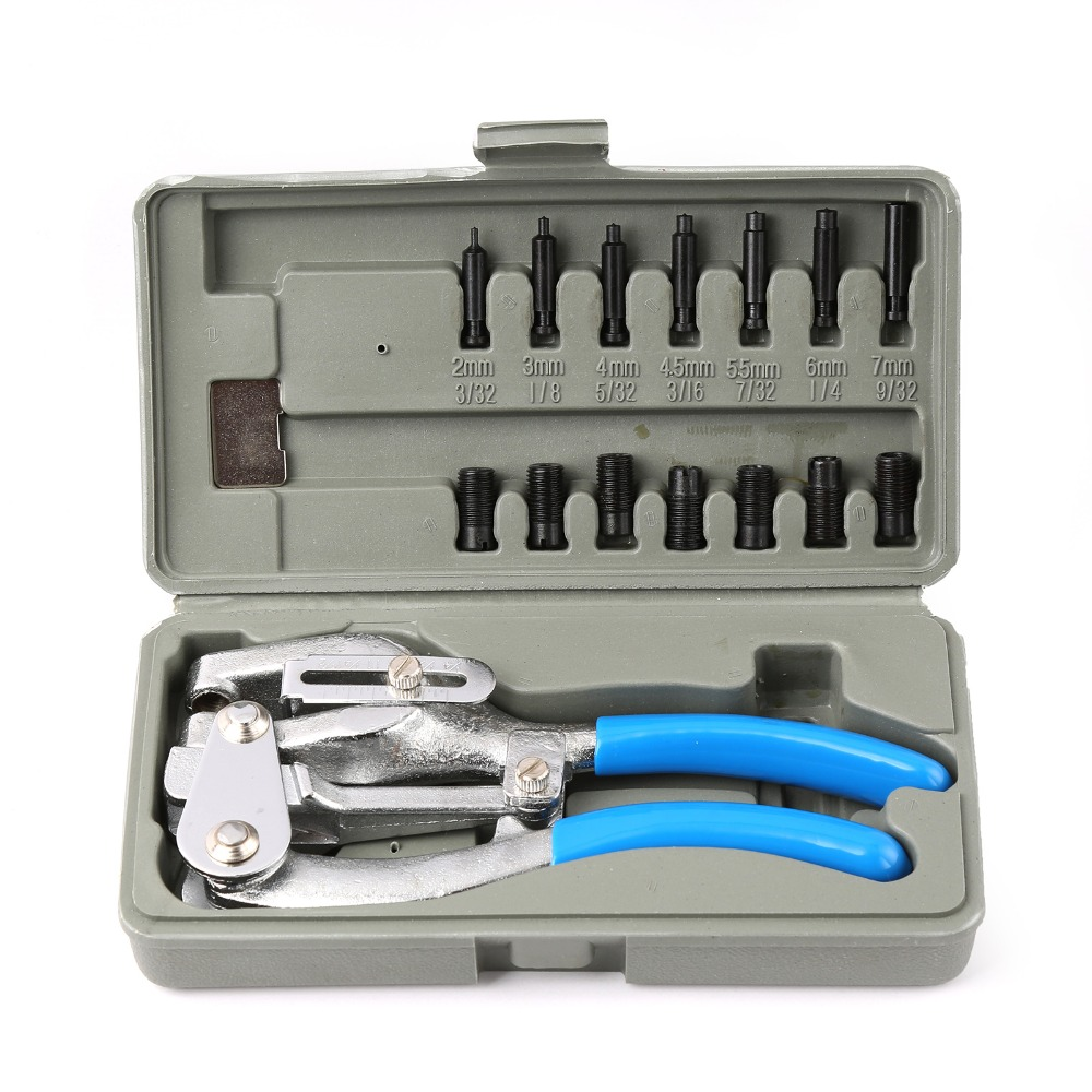 WINMAX Power Punch Kit Hand Held Power Punch, Sheet Metal Hole Punch Kit Body Shop Work WT01Z0802