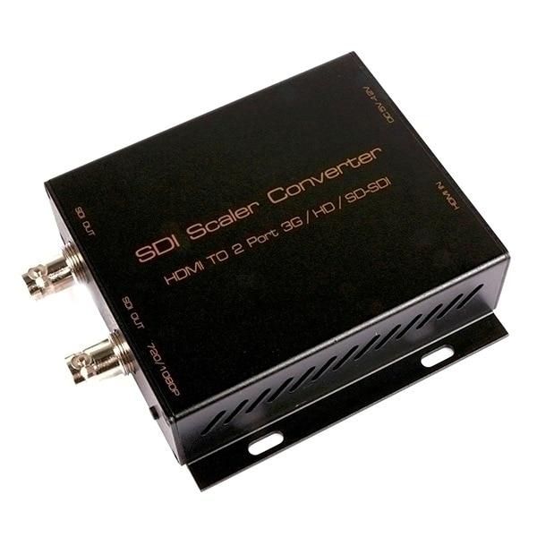HDMI TO 2 port 3G/HD/SD-SDI SDI Scaler Converter Support 720P/1080P Free shipping