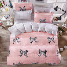 Butterfly Knot Bow Bedding Sets 3/4pcs Geometric Pattern Bed Linings Duvet Cover Bed Sheet Pillowcases Cover Set bedding set sailid a 108 1 cover set linings duvet cover bed sheet pillowcases tmallts
