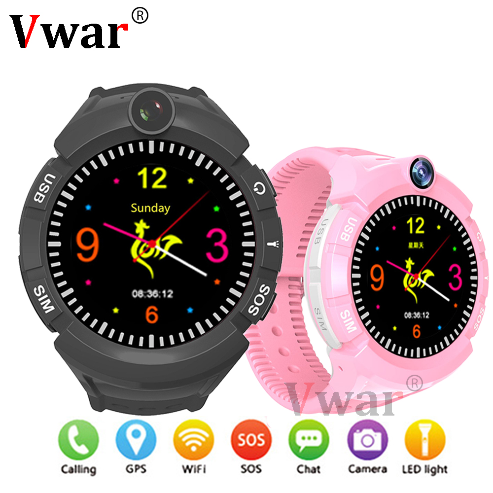 Vm50 Q360 Kids Smart Watch with Camera GPS WIFI Location Child smartwatch SOS Anti-Lost Monitor Tracker baby WristWatch PK Q528 smart kids child watch baby safe anti lost smartwatch gps remote monitor with sim tf location tracker whatsapp facebook device