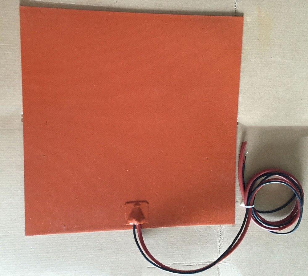 Stampante 3d letto riscaldato 400x400mm 24 v 450 w élément htater silicone réchauffeur pad pour copieur haute vitesse avec encre