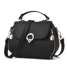 купить New Casual Women PU Leather Handbag Small Package Female Simple Handbags Ladies Solid Color Shoulder Messenger Crossbody Bag по цене 483.92 рублей