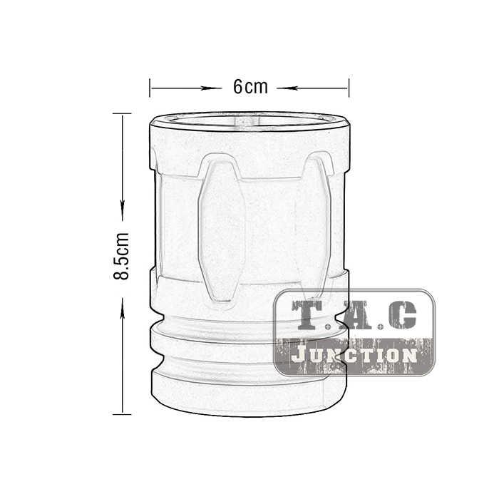 Taktis Flash Hider Penekan Bergaya Gelas Pertempuran Mug Aluminium Cangkir Minuman Kompak Bidang Minum Perangkat