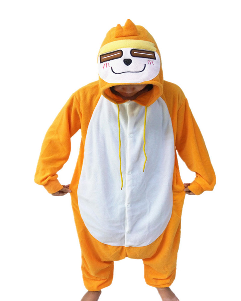 Hot Sales Orange Sloths Cute Onesie Women Sleepwear Funny Animal Pajamas Whole Unisex Teenager Costumes Chinese Market Online